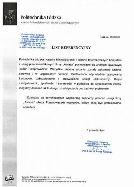 Politechnika Łódzka Katedra Mikroelektroniki i Technik Informatycznych